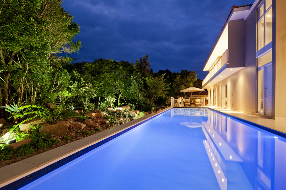 Palmtree House Pool And Deck Area